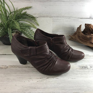 BareTraps Rosey Brown Leather Booties 6.5M [570s3]